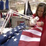 At American flag-making outposts, there's work to be done